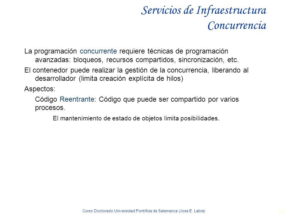 Servicios de Infraestructura Concurrencia