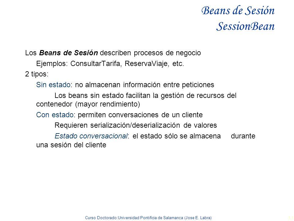 Beans de Sesión SessionBean
