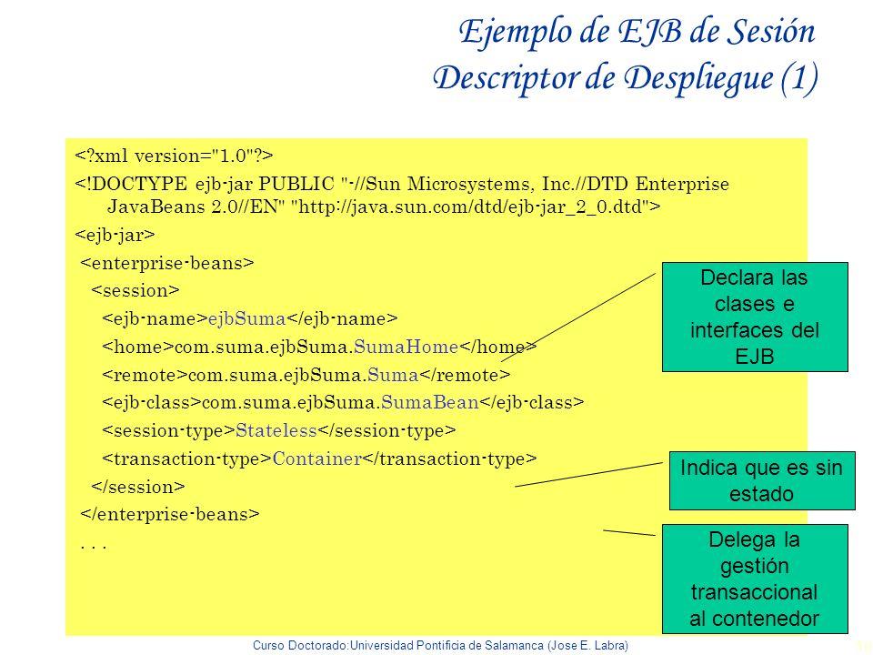 Ejemplo de EJB de Sesión Descriptor de Despliegue (1)