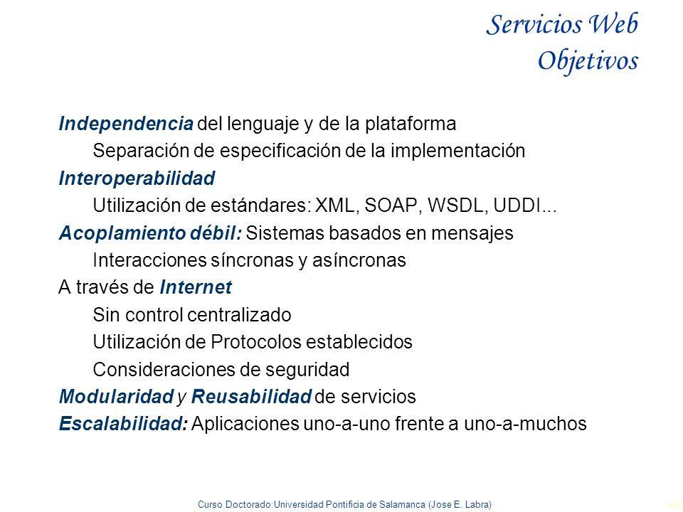 Servicios Web Objetivos