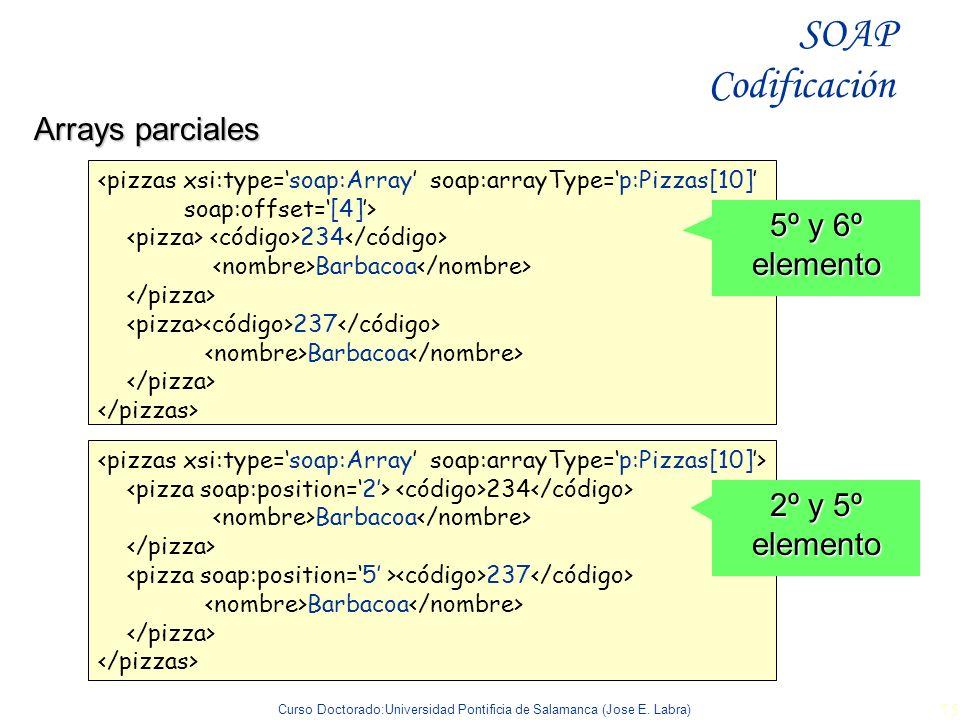 SOAP Codificación Arrays parciales 5º y 6º elemento 2º y 5º elemento