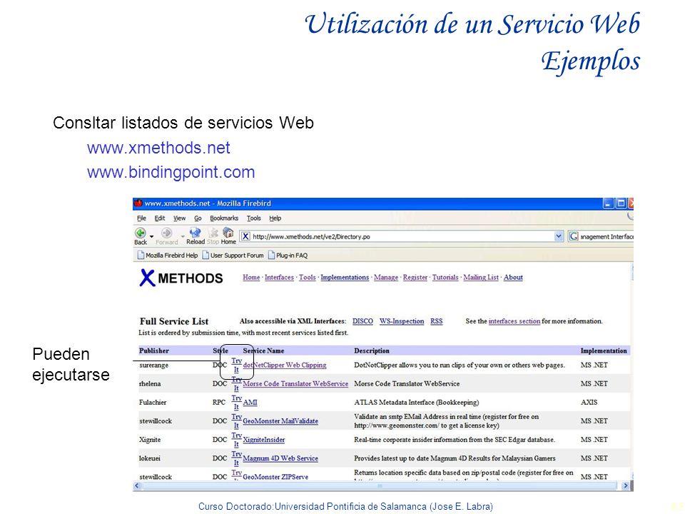 Utilización de un Servicio Web Ejemplos