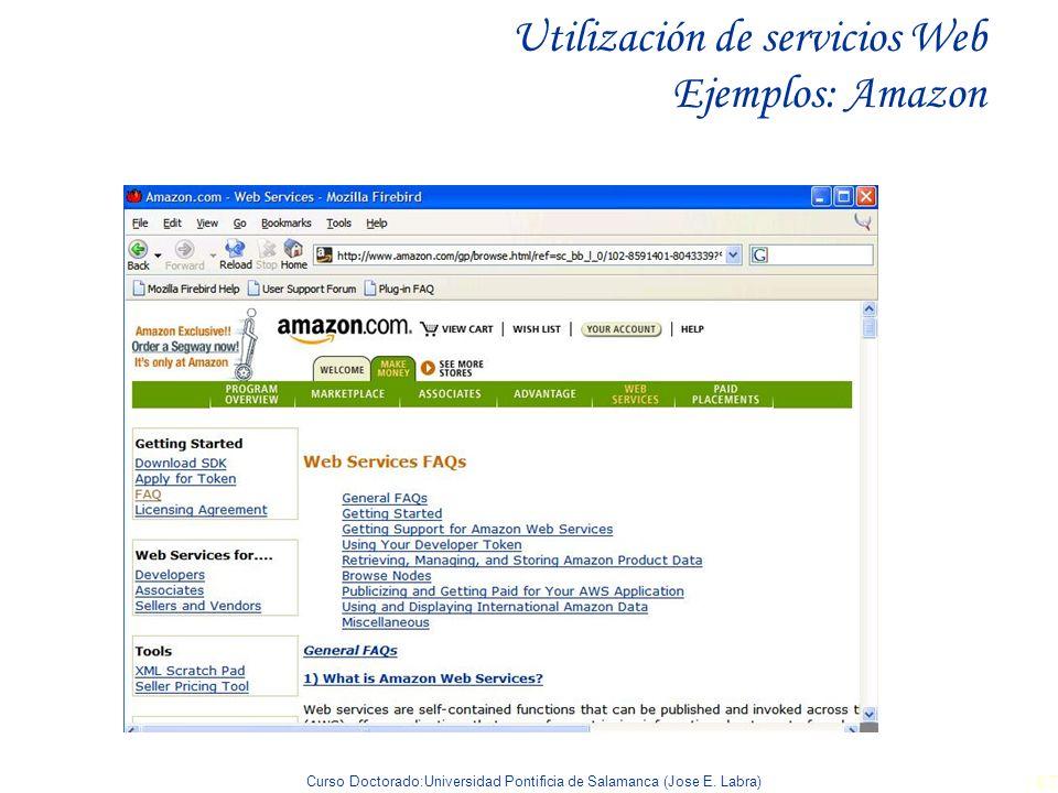Utilización de servicios Web Ejemplos: Amazon