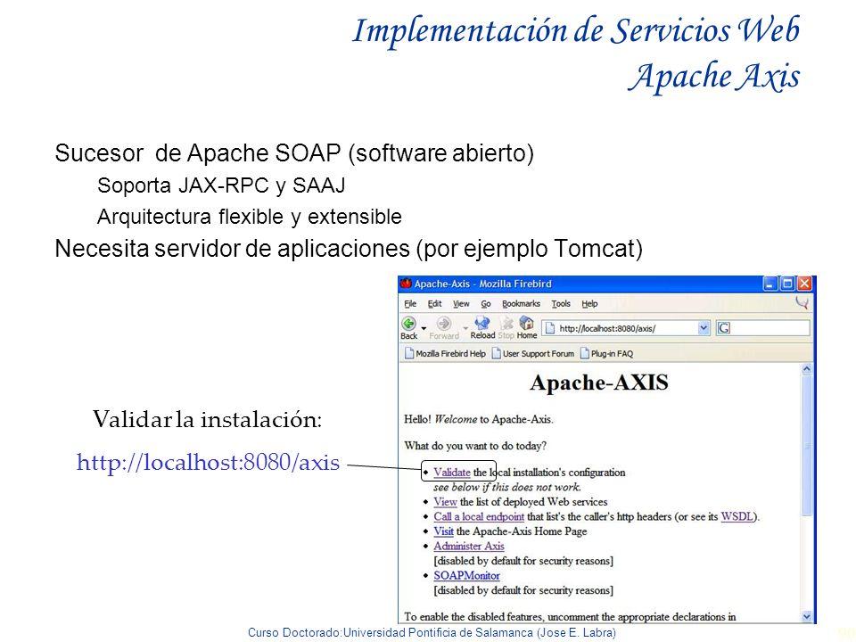 Implementación de Servicios Web Apache Axis