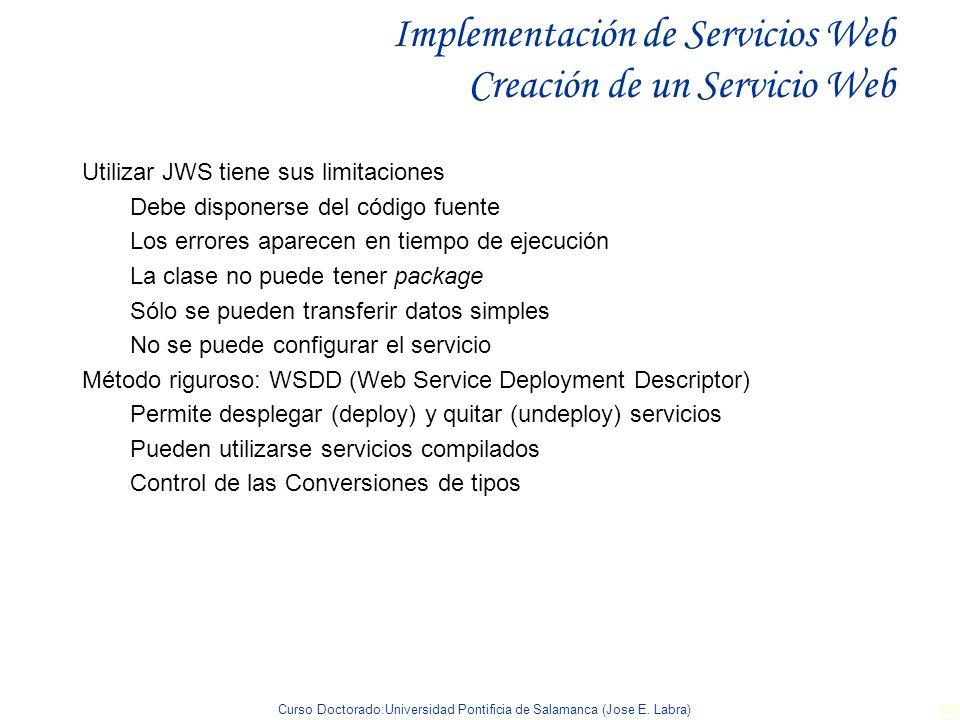 Implementación de Servicios Web Creación de un Servicio Web