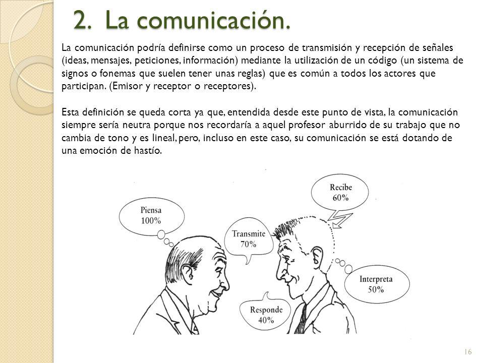 2. La comunicación.