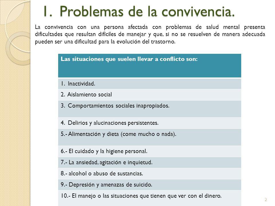 1. Problemas de la convivencia.
