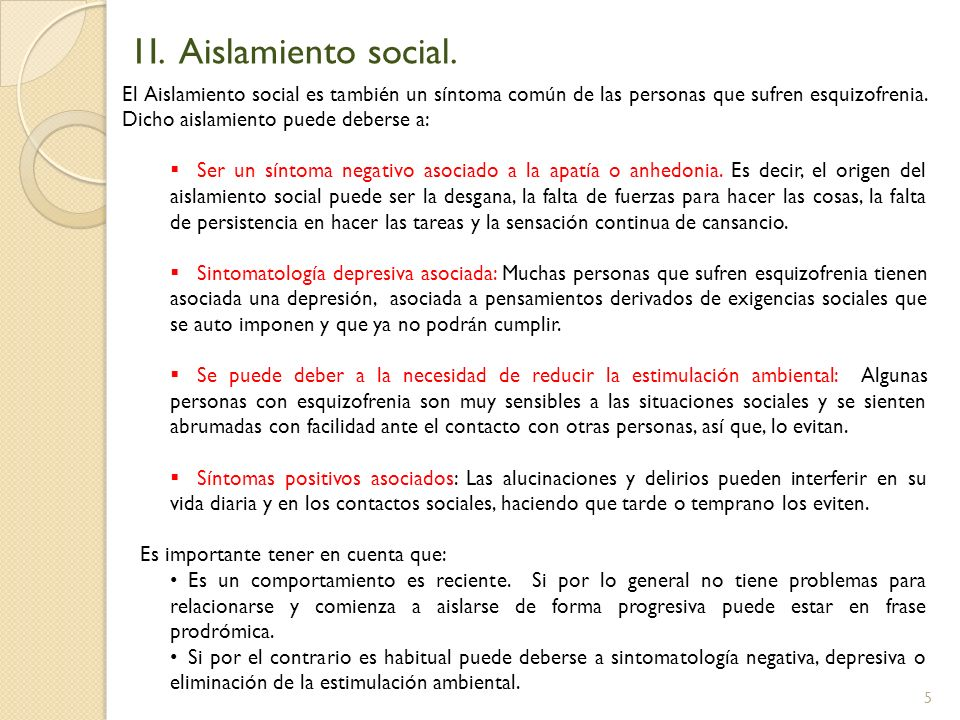1I. Aislamiento social.