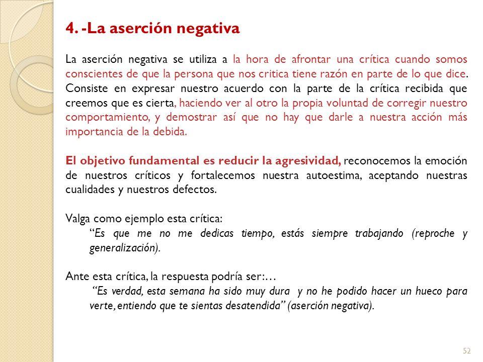 4. -La aserción negativa