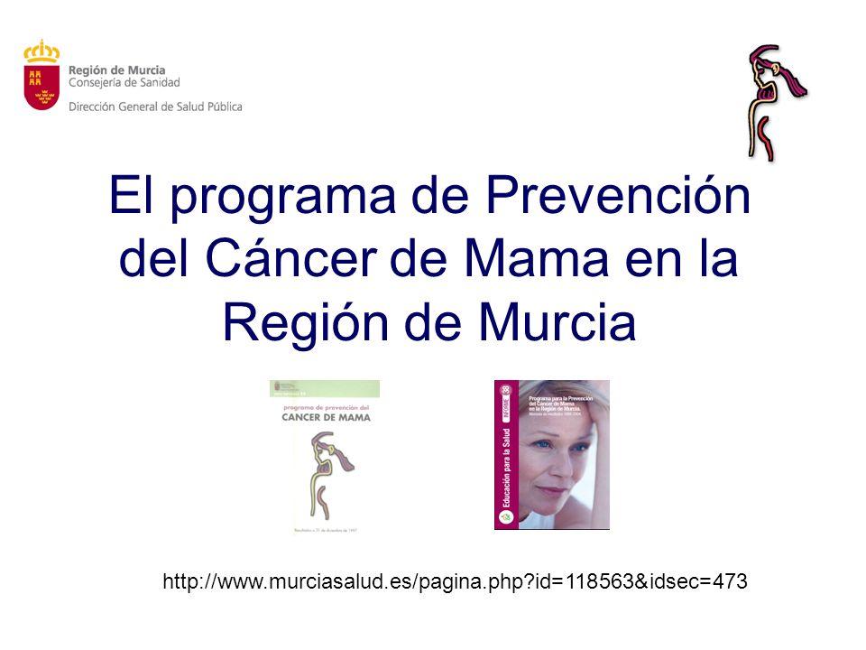 El programa de Prevención del Cáncer de Mama en la Región de Murcia
