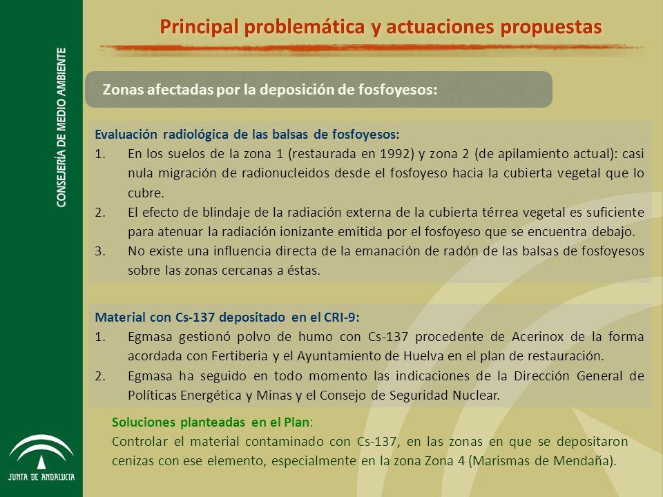 Principal problemática y actuaciones propuestas