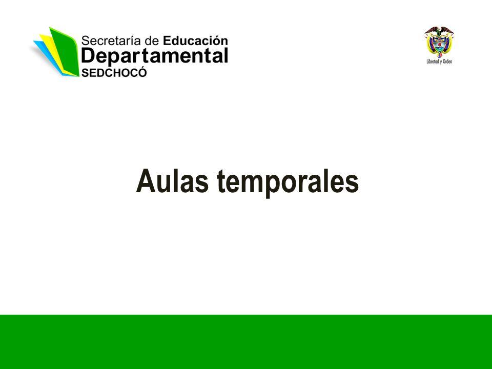 Aulas temporales