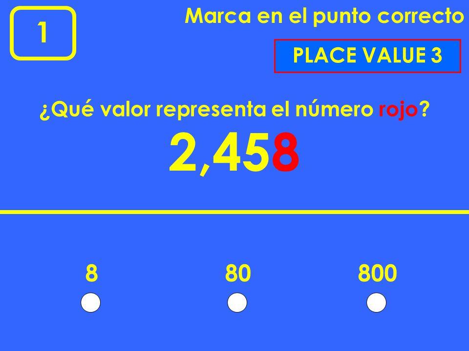 ¿Qué valor representa el número rojo