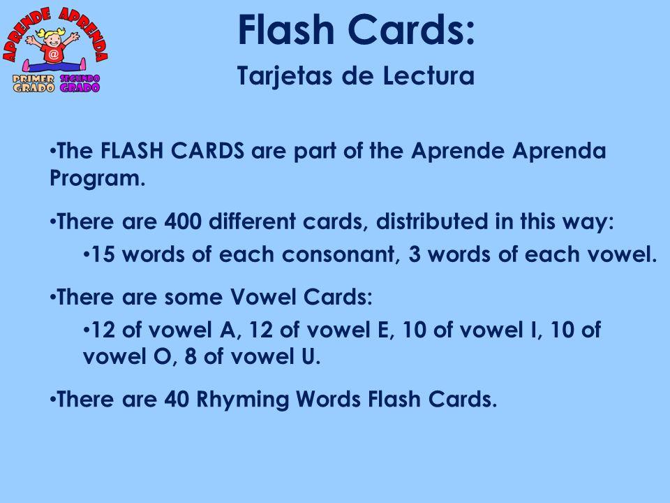 Flash Cards: Tarjetas de Lectura