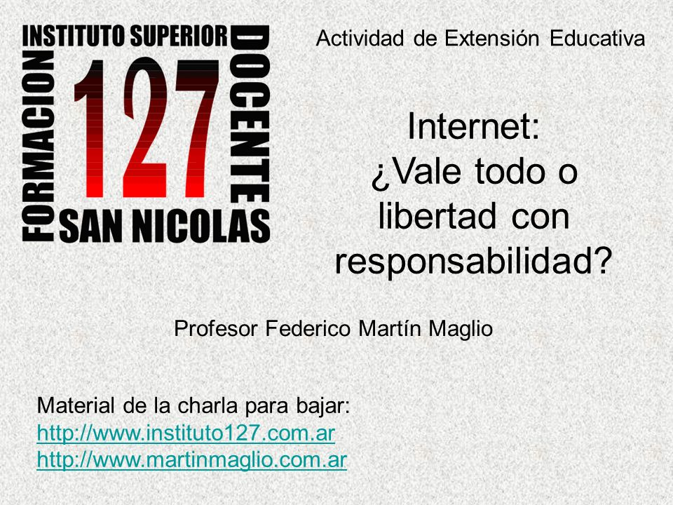 Internet: ¿Vale todo o libertad con responsabilidad