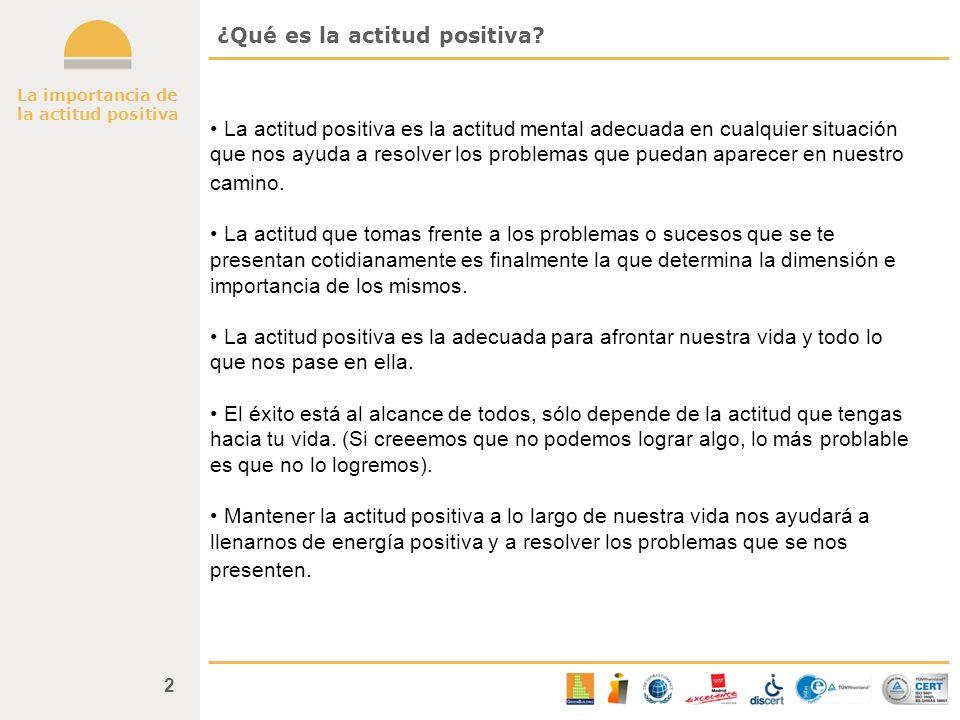 ¿Qué es la actitud positiva