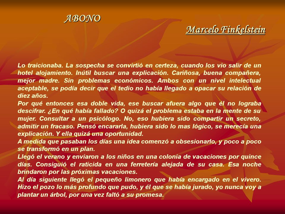 ABONO Marcelo Finkelstein
