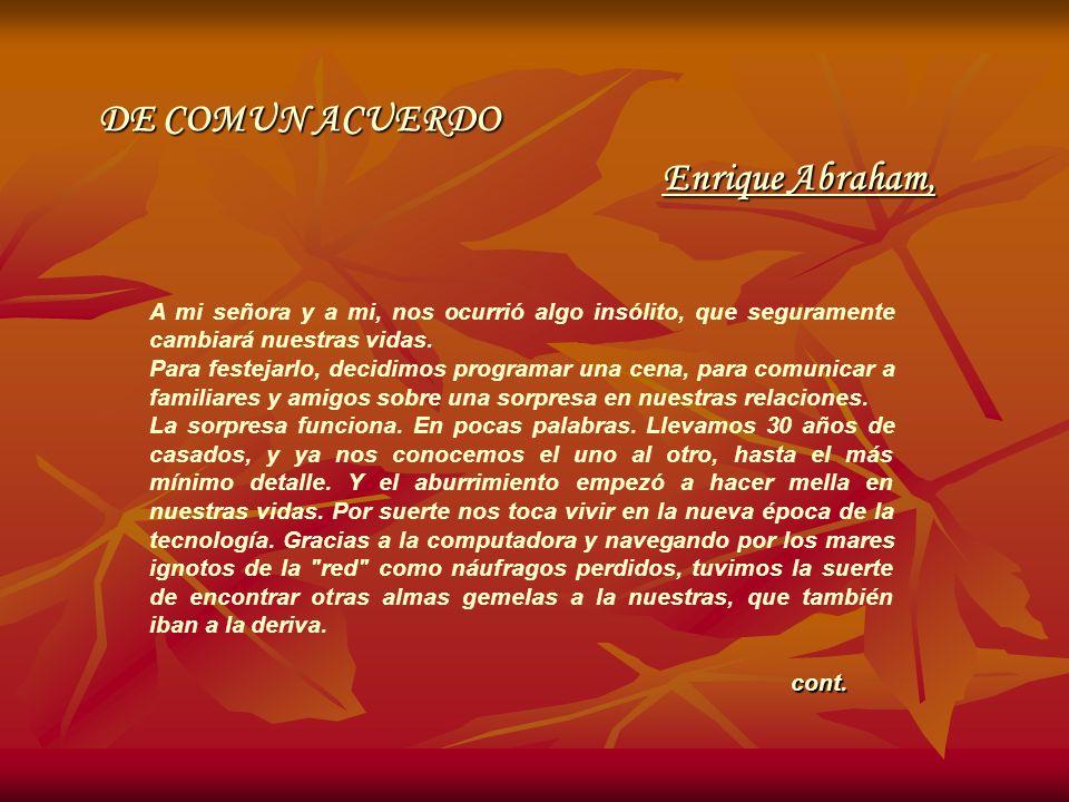 DE COMUN ACUERDO Enrique Abraham,