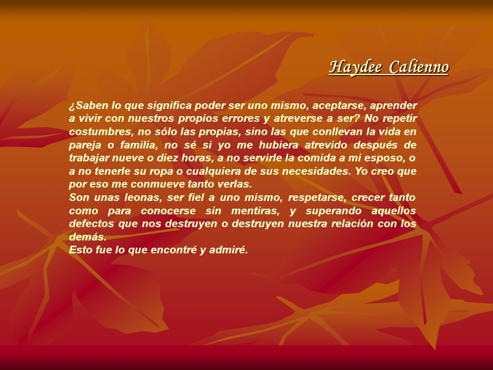 Haydee Calienno