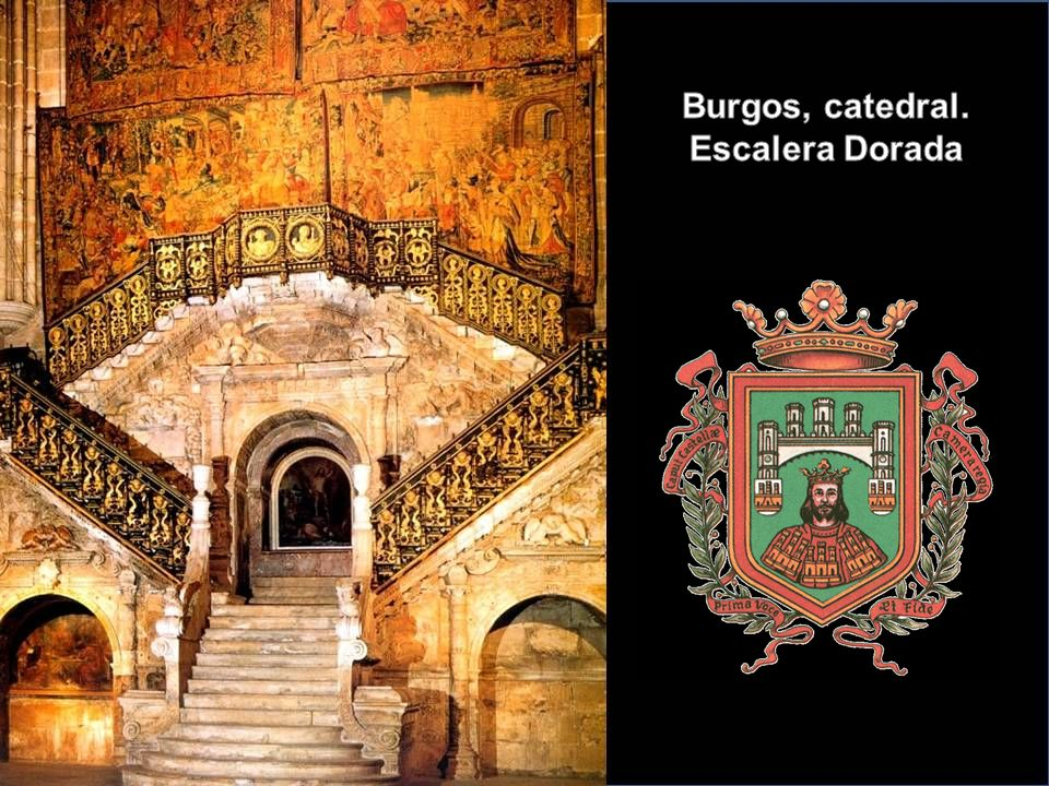 Burgos, catedral. Escalera Dorada