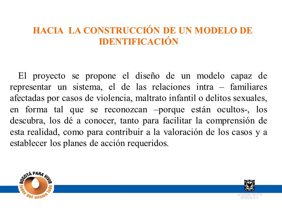 HACIA LA CONSTRUCCIÓN DE UN MODELO DE IDENTIFICACIÓN