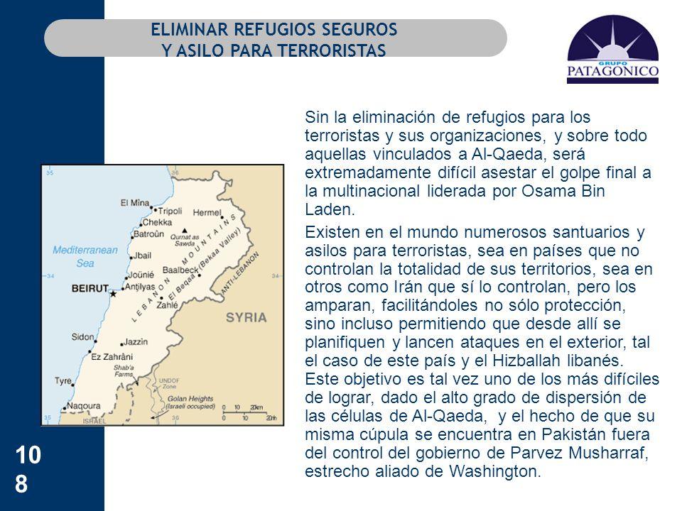 ELIMINAR REFUGIOS SEGUROS Y ASILO PARA TERRORISTAS