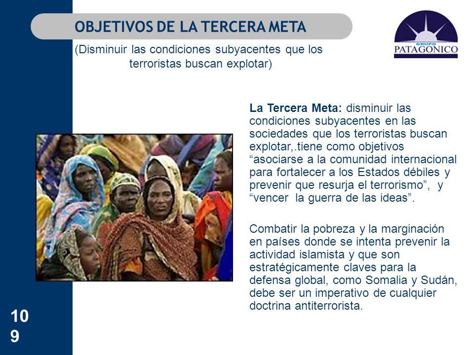 OBJETIVOS DE LA TERCERA META