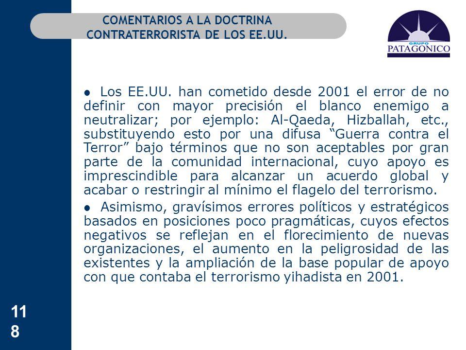 COMENTARIOS A LA DOCTRINA CONTRATERRORISTA DE LOS EE.UU.