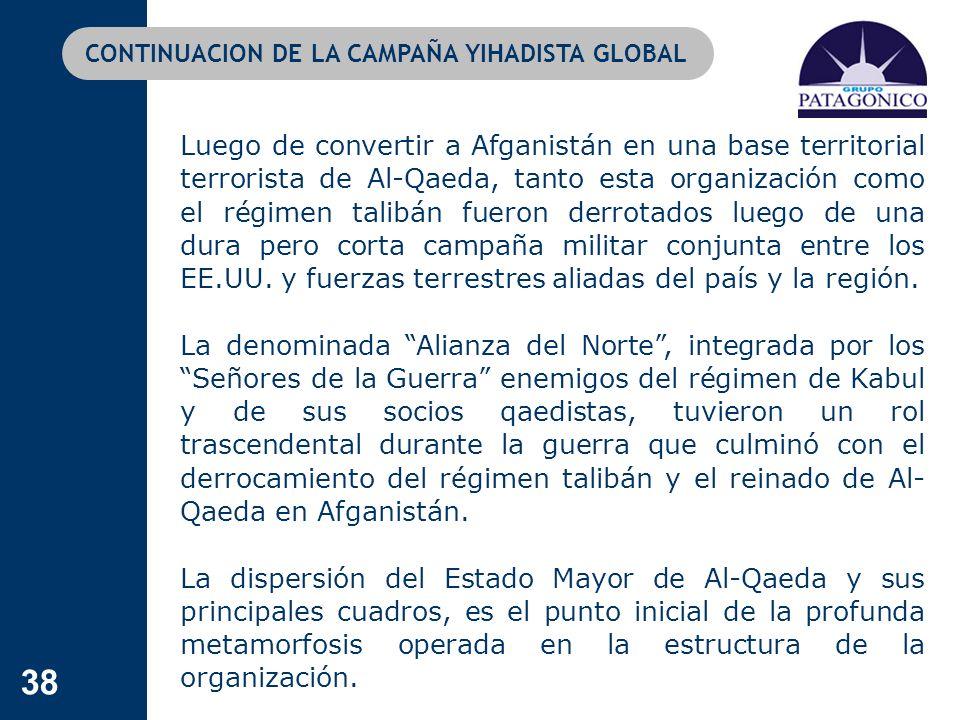 CONTINUACION DE LA CAMPAÑA YIHADISTA GLOBAL