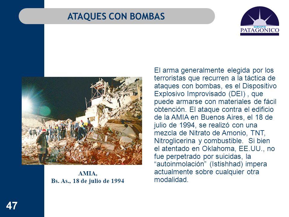 ATAQUES CON BOMBAS