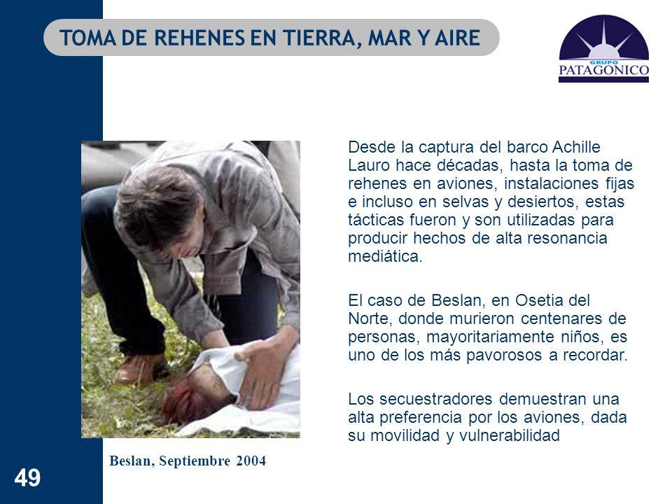 TOMA DE REHENES EN TIERRA, MAR Y AIRE
