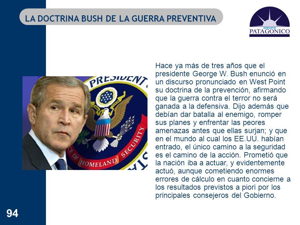 LA DOCTRINA BUSH DE LA GUERRA PREVENTIVA