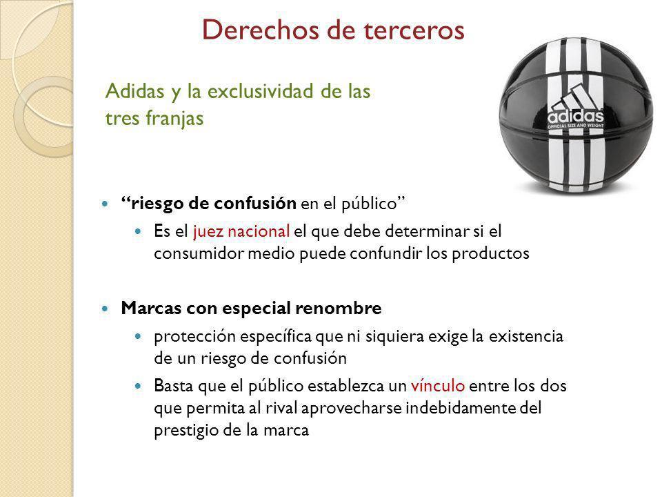 Derechos de terceros Adidas y la exclusividad de las tres franjas
