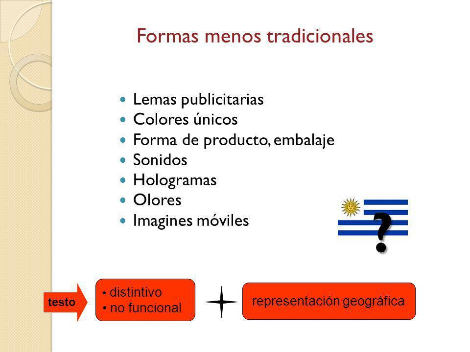 Formas menos tradicionales