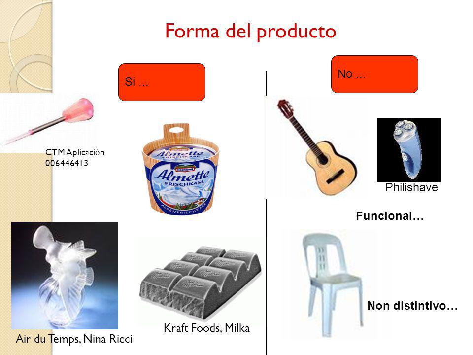 Forma del producto No ... Si ... Philishave Funcional… Non distintivo…