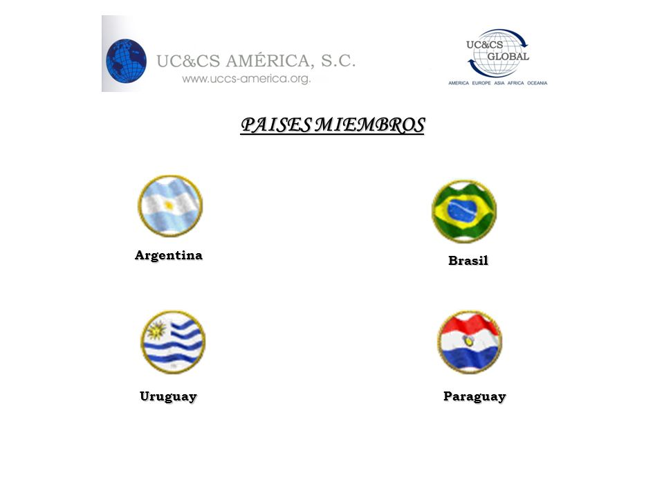 PAISES MIEMBROS Argentina Brasil Uruguay Paraguay