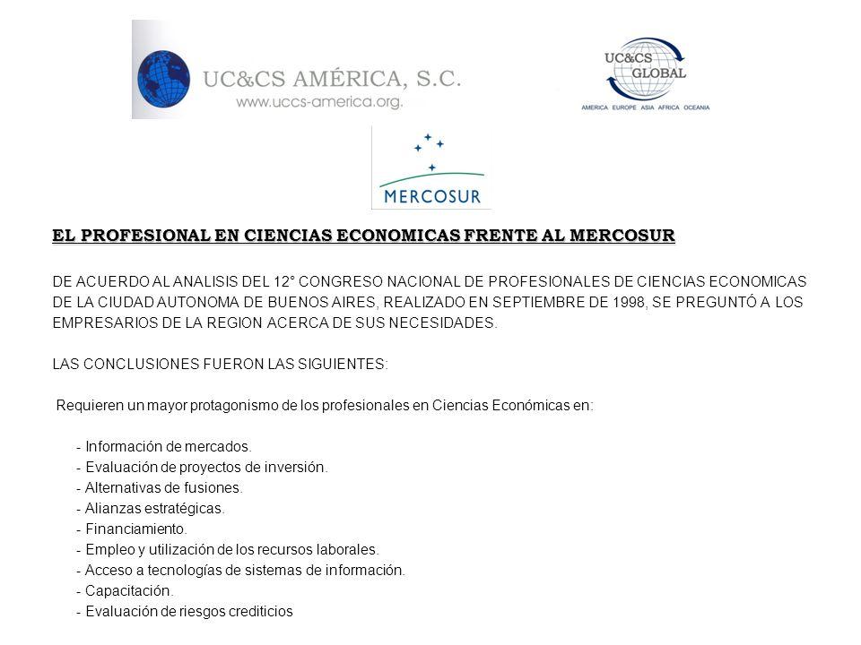 EL PROFESIONAL EN CIENCIAS ECONOMICAS FRENTE AL MERCOSUR