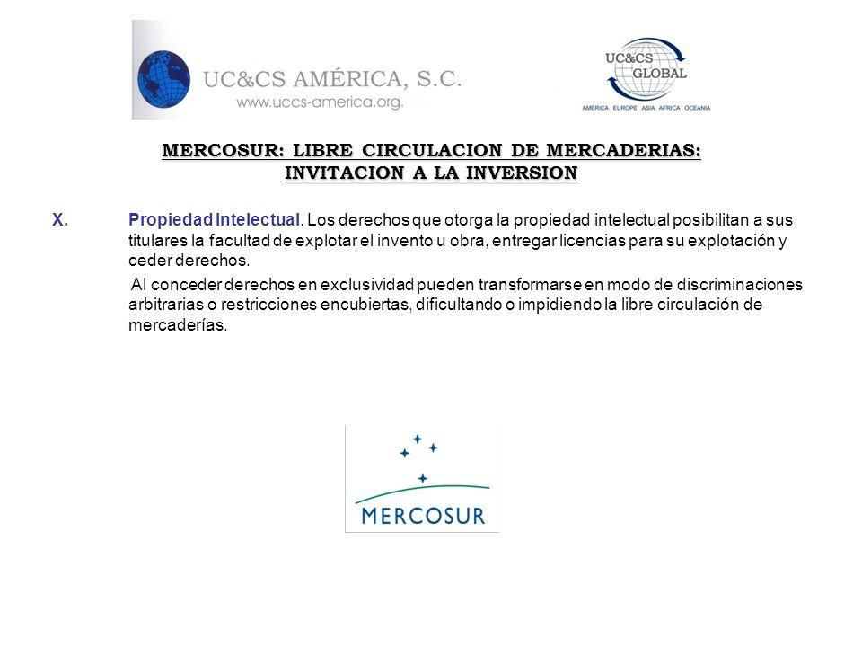 MERCOSUR: LIBRE CIRCULACION DE MERCADERIAS: INVITACION A LA INVERSION