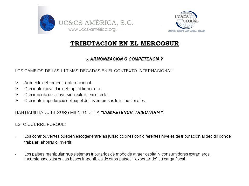 TRIBUTACION EN EL MERCOSUR