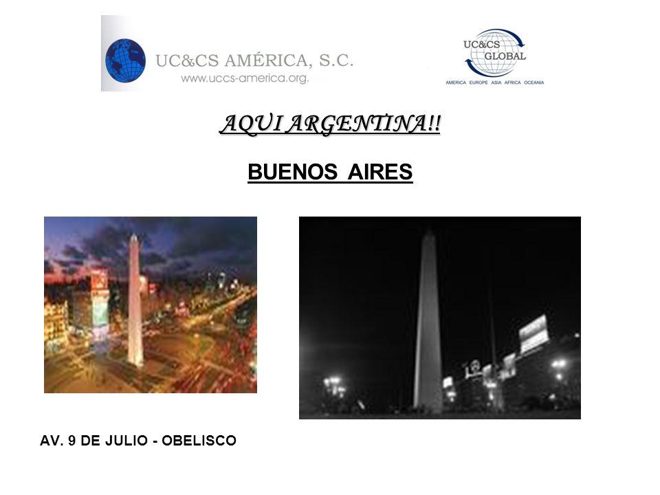 AQUI ARGENTINA!! BUENOS AIRES AV. 9 DE JULIO - OBELISCO