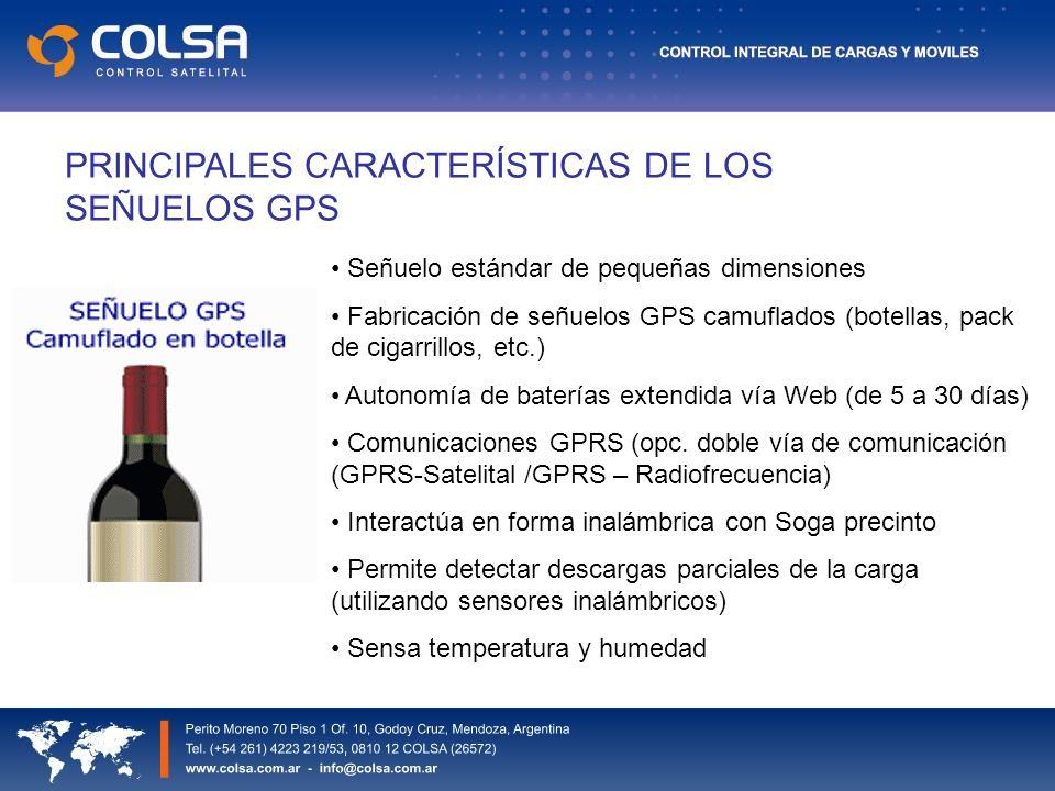 PRINCIPALES CARACTERÍSTICAS DE LOS SEÑUELOS GPS