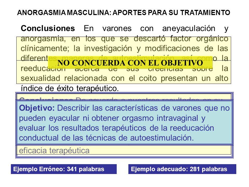 NO CONCUERDA CON EL OBJETIVO