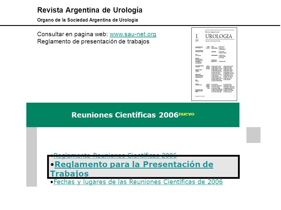 Reuniones Científicas 2006nuevo