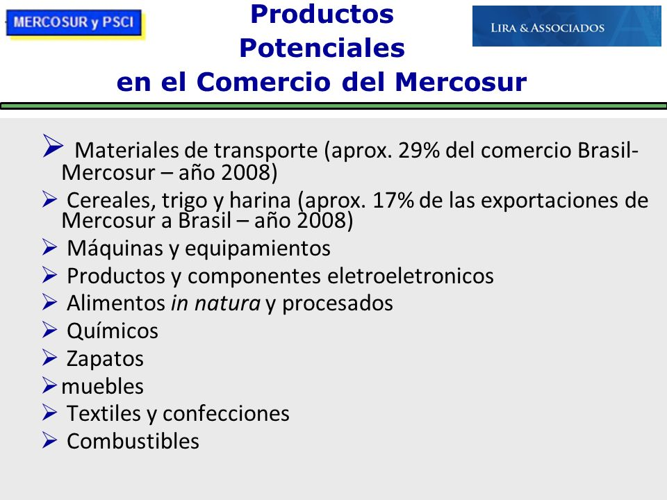en el Comercio del Mercosur