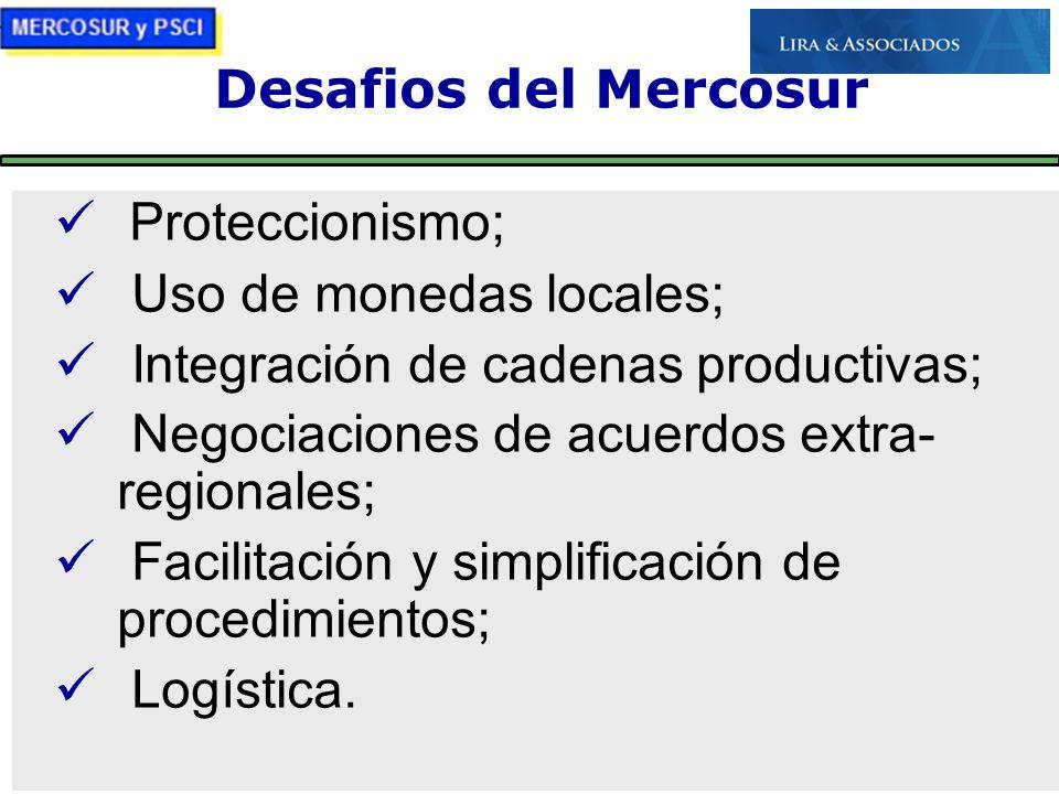 Uso de monedas locales; Integración de cadenas productivas;