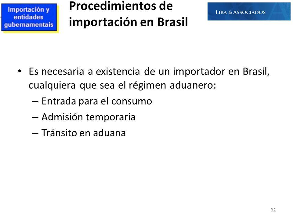 Procedimientos de importación en Brasil