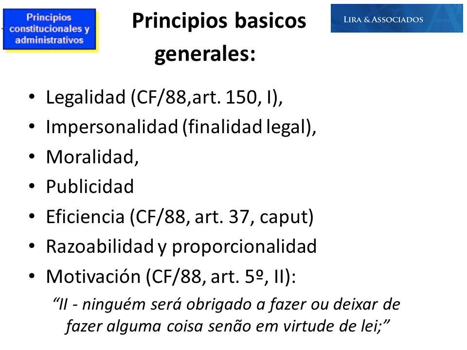 Principios basicos generales: