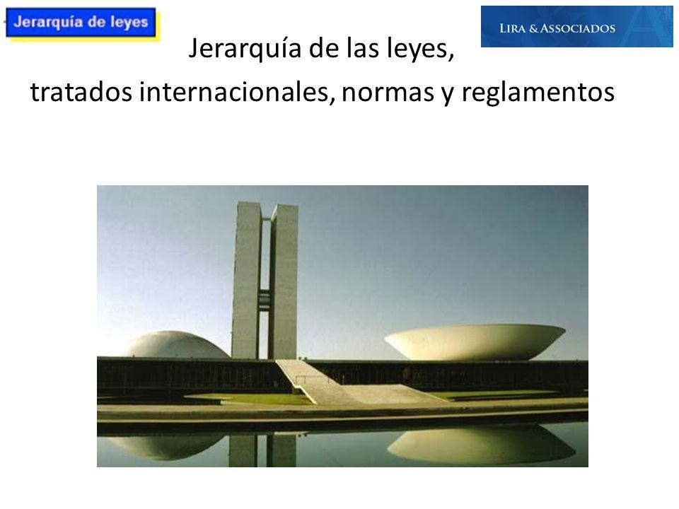 tratados internacionales, normas y reglamentos