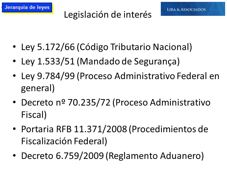 Legislación de interés