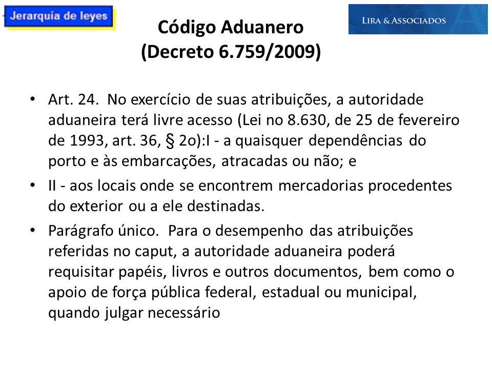 Código Aduanero (Decreto 6.759/2009)